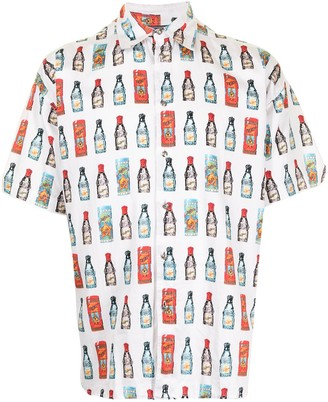 Versace Pre-Owned Bottle Print Short-Sleeved Shirt