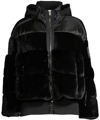 Bogner Duna Mixed Media Faux Fur Puffer Jacket
