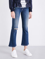Current/Elliott The Kick cropped high-rise jeans