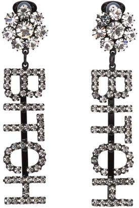 Ashley Williams Transparent Bitch Earrings