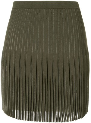 Dion Lee Godet Pleat Mini Skirt
