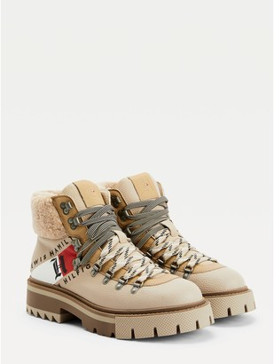 Tommy Hilfiger Lewis Hamilton Shearling Chunky Boots