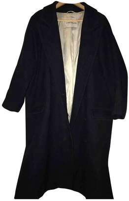 Carin Wester Navy Cotton Coat for Women