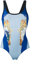 Stella McCartney beach print swimsuit - women - Polyamide/Spandex/Elastane - 36