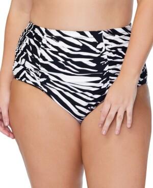 Raisins Curve Trendy Plus Size Costa Meru Printed Bikini Bottoms Women's Swimsuit