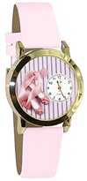 Whimsical Watches Kids' C0510005 Classic Gold Ballet Shoes Pink Leather And Goldtone Watch