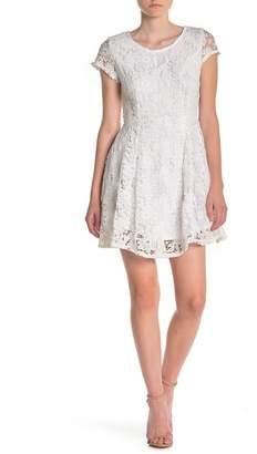 Ash MAX & Short Sleeve Lace Dress