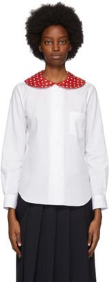 COMME DES GARÇONS GIRL White Polka Dot Collar Shirt