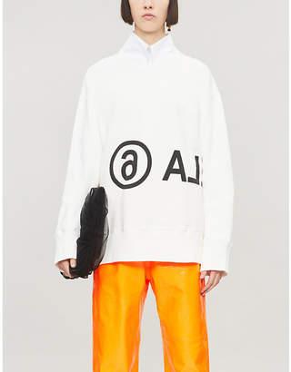 MM6 MAISON MARGIELA Oversized text-print cotton-jersey sweatshirt