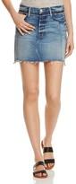Frame Nouveau Le Mix Denim Mini Skirt