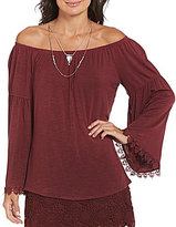 Soulmates Off-The-Shoulder Bell-Sleeve Blouse