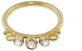 Ruth Tomlinson Three Stone Diamond Scroll Ring