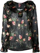 Vilshenko pleated collar blouse - women - Silk/Cotton - 12