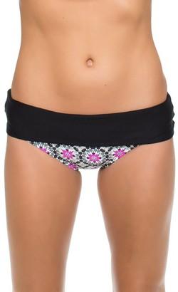 Next Women's Weekend Warrior Printed Powerhouse Banded Retro Bikini Bottom with UPF 50