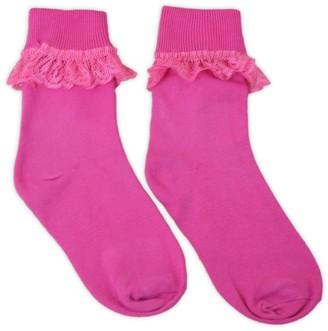 Adam & Eesa 12 Pairs - Ladies Girls Frilly Lace Ankle Socks - Party Frill Sock - UK Sizes