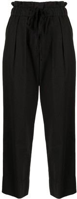 Sea Cropped Drawstring Trousers