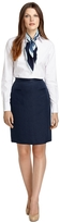 Brooks Brothers Linen Pencil Skirt