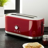 Crate & Barrel KitchenAid ® 4-Slice Long Slot Toaster Red