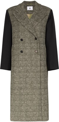 ASAI Oversized Panelled Checked Coat