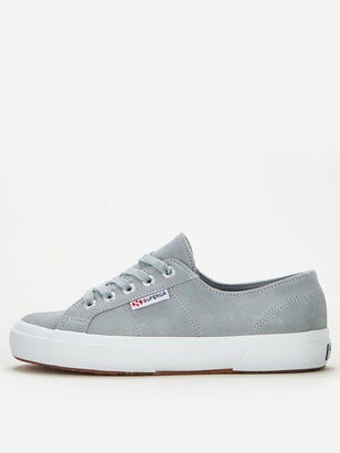 Superga 2750 Suede Plimsoll - Light Grey
