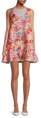 Valentino Layered Floral Tank Dress