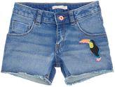 Billieblush Girls Sequin-Detail Denim Shorts