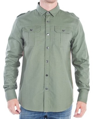 No Retreat Ruth Men's Long Sleeve Button Up Shirt