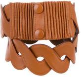 Valentino Woven Leather Waist Belt