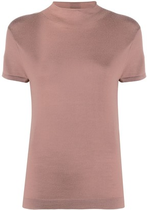 N.Peal mock neck cashmere T-Shirt