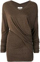 Etoile Isabel Marant Alia asymmetric draped jumper