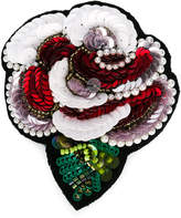 Simonetta sequin rose brooch