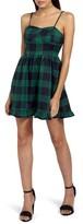 Missguided Women's Tartan Plaid Minidress