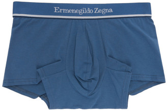 Ermenegildo Zegna Blue Cotton Boxers