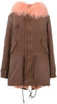 Mr & Mrs Italy - flap pocket hooded jacket - women - Cotton/Fox Fur/Lamb Skin/Racoon Fur - XXS