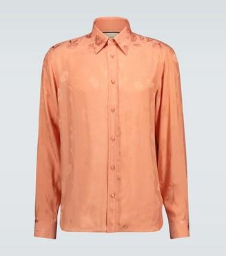 Gucci Daisies jacquard viscose shirt