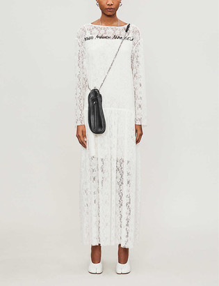 MM6 MAISON MARGIELA Branded-print lace maxi dress