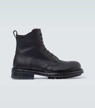 Dolce & Gabbana Stivaletto Vitello lace-up boots