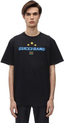 Gucci Band Cotton Jersey T-Shirt