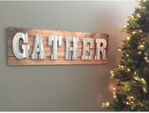Boston Warehouse Metal and Wood Gather Holiday Wall Sign