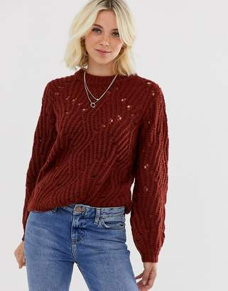 Pieces Bea long sleeve knit jumper