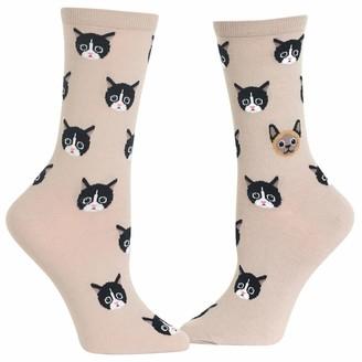 Hot Sox Women's Cat Lover Novelty Casual Crew Socks
