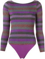 Cecilia Prado knit bodysuit - women - Acrylic/Lurex/Viscose - P