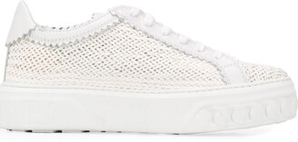 Casadei Woven Low-Top Trainers