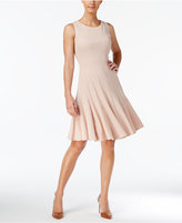 Calvin Klein Sleeveless Pleated A-Line Dress