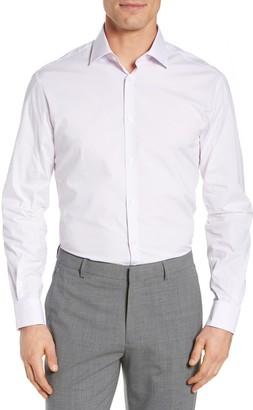 John Varvatos Regular Fit Stretch Solid Dress Shirt