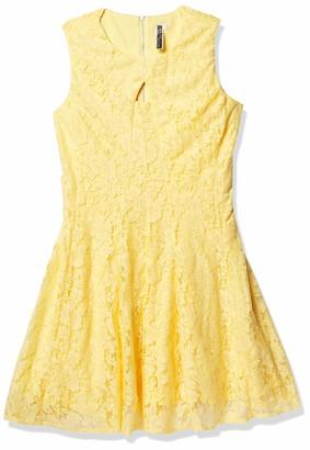 Julian Taylor Women's Plus Size Sleeveless Fit and Flare Lace Key Hole Dress