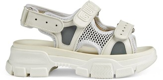 Gucci Children's leather and mesh sandal