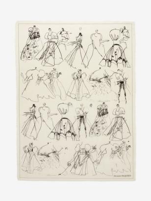 Alexander McQueen Dancing Girls Wool Shawl