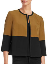 Kasper Suits Stretch Crepe Contrast Jacket