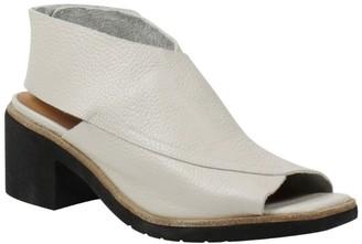 L'Amour des Pieds Block Heel Leather Sling Sandals - Qiana